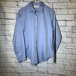 Brooks brothers 10 blue non iron shirt 3158